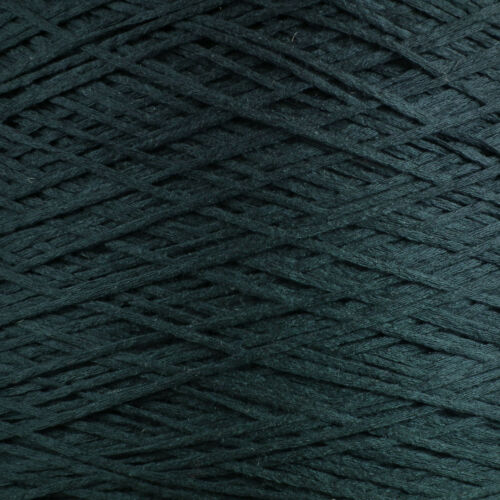 NEW 4 PLY ITALIAN TAPE YARN 500g CONE 10 BALLS DARK NAVY BLUE CHAINETTE RIBBON
