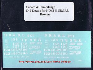 LMH-Funaro-F-amp-C-D-2-HOn2-1-2-HOn30-SR-amp-RL-Sandy-River-Rangeley-Lakes-DECALS-Boxcar