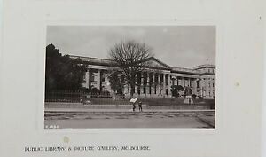 MELBOURNE-PUBLIC-LIBRARY-amp-PICTURE-GALLERY-VICTORIA-EARLY-1900-S-POSTCARD