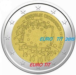 Obligeant 2 € Autriche Commemorative 1 X Piece 2015 Drapeau Disponible Pour Aider à DigéRer Les Aliments Gras