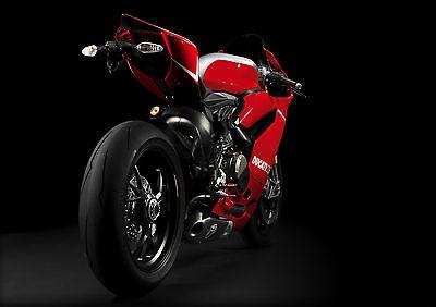Aggressivo Sticker Autocollant Poster Sport Mecanique Moto Biker Ducati.