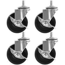 4 Pack 3 2 Swivel Caster Rubber Wheels Steel Top Plate Ball Bearing Heavy Duty