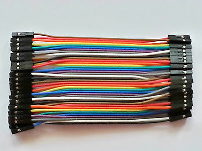 10x Cables Dupont 20cm Femelle//Femelle pour BreadBoard Arduino Raspberry Pi