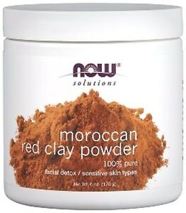 Now-Foods-MOROCCAN-RED-CLAY-POWDER-6-oz-Skin-Mask-FACIAL-CLEANSER-HEALING-DETOX