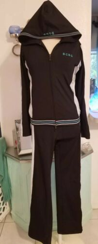 BCBG MAX AZRIA Track Suit Athletic Gym Jacket & Pa