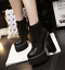 Womens-Platform-Chunky-Block-High-Heels-Multi-Color-Gothic-Lace-up-Ankle-Boots thumbnail 3