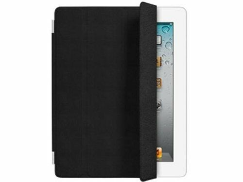 Genuine Retail Boxed iPad 2 3 & 4 Black Leather Folding Smart Cover MD301ZM/A