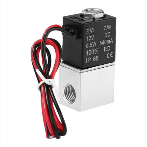 DC12V G1//8 N//C Solenoid Valve 2 Way Direct-acting Normally Closed Valve #8Y