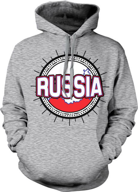 Russia Symbol Russian Distressed Country From Born Rossiya RUS Hoodie Sweatshirt