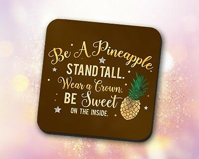 Custom ~ Inspirational Quote Pineapple Stand Tall Crown ~ Vivid Mouse Pad
