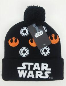 Disney-Star-Wars-Galactic-Empire-Rebel-Alliance-Embroidered-Cuff-Beanie-Hat-Cap