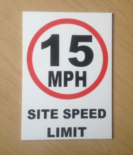 15 mph SITE SPEED LIMIT Segnale pl-76 SICUREZZA SEGNALE PER CANTIERE E FABBRICA
