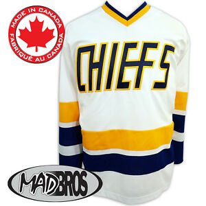 4eb48cd07 Image is loading SlapShot-Movie-Charlestown-CHIEFS-Hockey-Jersey -Official-Made-