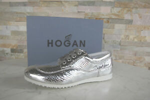 HOGAN by TODS MORTE s GR 39 sneakers Scarpe con lacci scarpe SILVER NUOVO