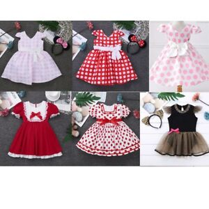 Baby-Girls-Polka-Dot-Dress-Fancy-Party-Princess-Costume-Tutu-Outfit-Clothes
