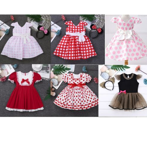 Baby Girls Polka Dot Dress Fancy Party Princess Costume Tutu Outfit Clothes
