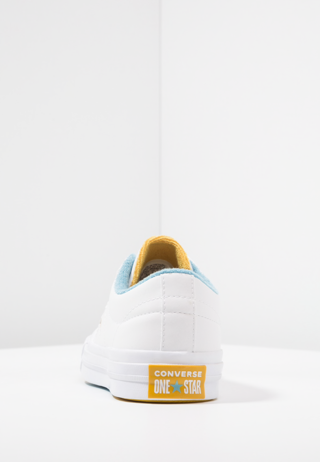 a4a555c73d7b CONVERSE Mens Grand Slam One Star OX White Yellow Leather Trainers - uk 6  eu 39