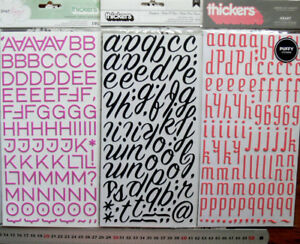 PUFFY-Raised-Letters-amp-Numb-PINK-BLACK-amp-MELON-15-50mmHigh-amp-5-40mmWide-ChoiceL1R