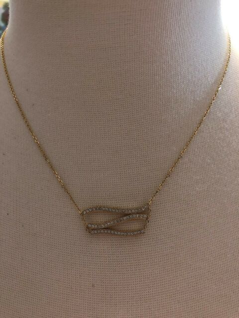 109cc2a4a68a8c Michael Kors Gold Tone Wonderlust Crystal Statement Pendant Necklace, NWT  $95