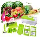 12 PC Super Slicer Plus Vegetable Fruit Peeler Dicer Cutter Chopper Nicer Grater