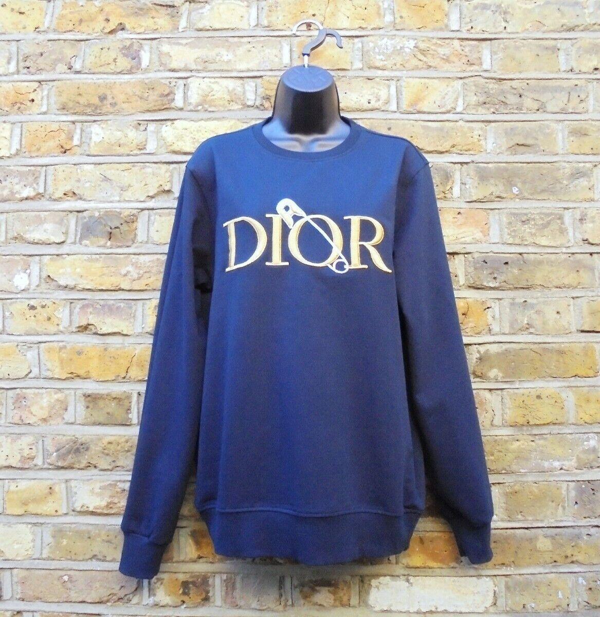 Dior X Judy Blame Unisex Navy Blue Bobbypin Sweatshirt Jumper Size Medium NEW