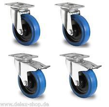 1 Satz Blue Wheels Transportrollen Lenkrollen 125mm 200kg / Rolle Rollenlager