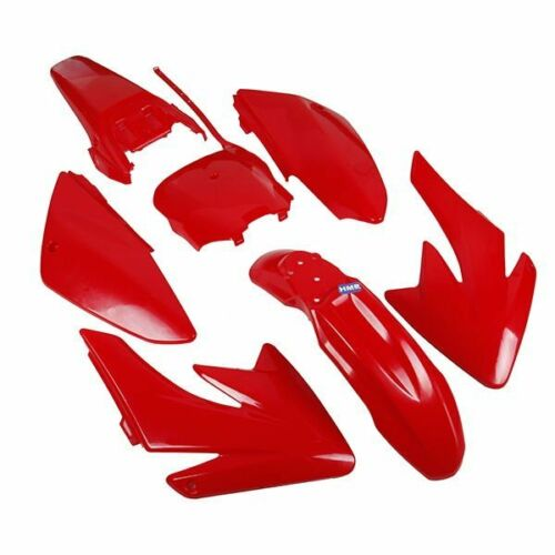 HMParts DIRT BIKE PIT BIKE Travestimento Set CRF 70-Style Rosso tipo 6