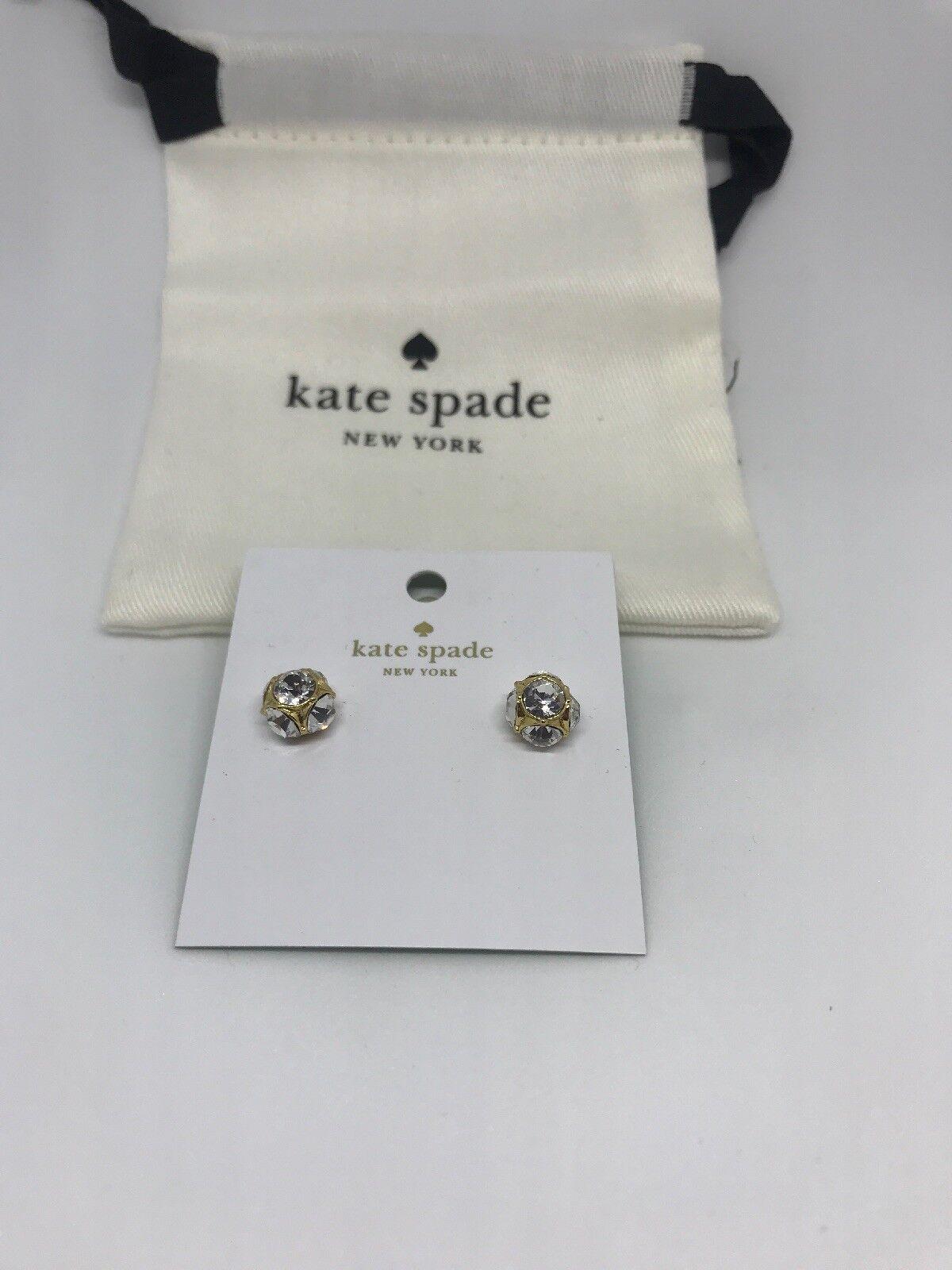 97da0894af4a2 Kate Spade Lady Marmalade Studs Earrings Clear Gold Tone O0ru1145