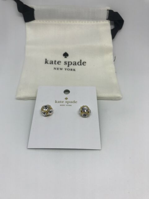 bad11f443 Kate Spade Lady Marmalade Studs Earrings Clear Gold Tone O0ru1145 ...