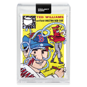TOPPS PROJECT 2020 TED WILLIAMS #58 1954 RC #250 BOSTON RED SOX ERMSY IN HAND!