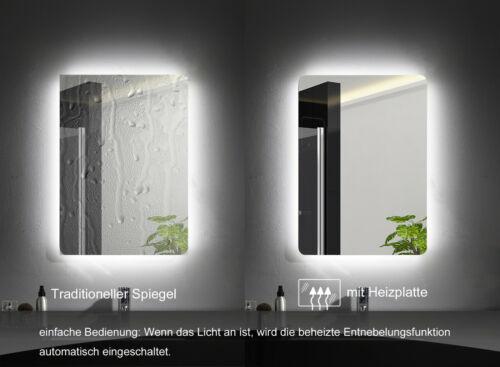 LED Badspiegel//Wandspiegel Badezimmerspiegel mit Beleuchtung Touch-Schalter MIX