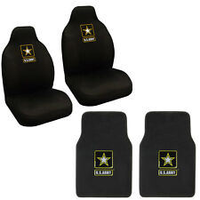 New 4pc Set Military U.S. Army Car Truck Front Carpet Floor Mats & Seat Covers