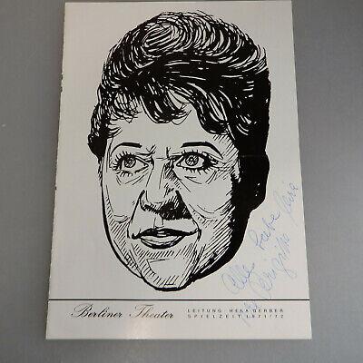 Aromatischer Geschmack 54639 Autogramm Brigitte Mira Auf Portrait Theaterprogramm 1973