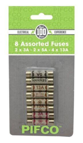 Pifco Assorted Cartouche fusibles Set 3//5//13 amp domestique Fusible Ménage Secteur Plug