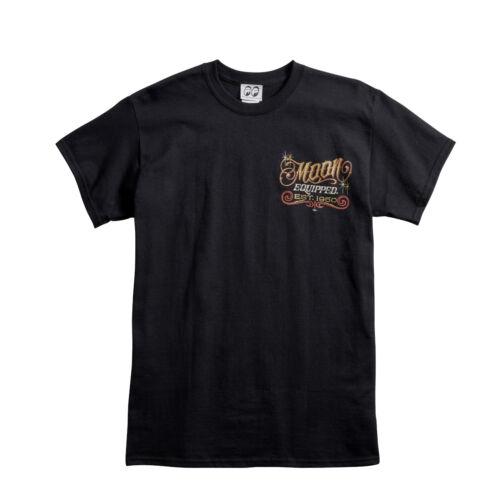 Men/'s Mooneyes Moon Equipped Shoebox Est 1950 T-Shirt Black Cotton MQT076