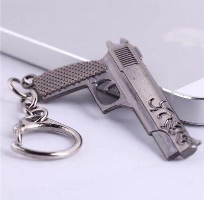 Mp5 Sub Machine Gun Keyring Jewellery Stainless Steel Gun