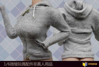 ONEPOP 1//6 Female Leisure Wear Hooded Cardigan Clothes Accessory F 12/'/' Figure