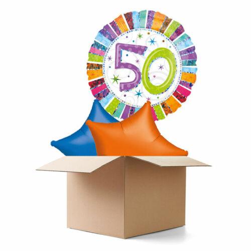Radiant 50 Ballongrüsse H-Birthday Ballongeschenk Ballon Deko Geburtstag