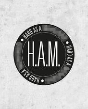 "Kanye West Jay Z Sticker! ""HAM"" Watch the throne, yeezus, hard as a, laptop rap"