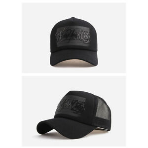 ca423f17b78 Unisex Mens New York City NYC Mesh Baseball Cap Trucker Snapback ...
