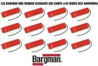 12x Red Bargman Led Clearance Side Marker Light 38 Self Grounding Trailer Truck