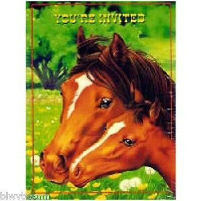 HORSE MARE AND FOAL 8 PACK OF INVITATIONS FOR BIRTHDAY   eBay