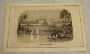 1848-Antique-Print-PRESIDENT-S-HOUSE-WASHINGTON