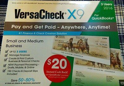 Versacheck X9 for #QuickBooks 3 users Brand New!!!