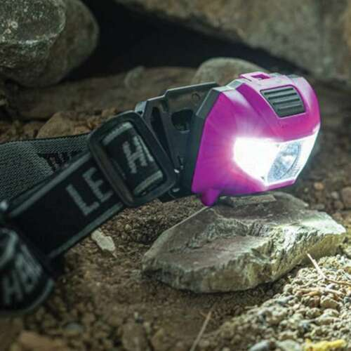 3xLEDs White Head Light Fishing Ultraviolet UV Blacklight Headlamp Hunting Torch