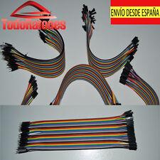 10x  hembra a macho Jumper Cable electronica robotica arduino 20cm 2,54 soldar