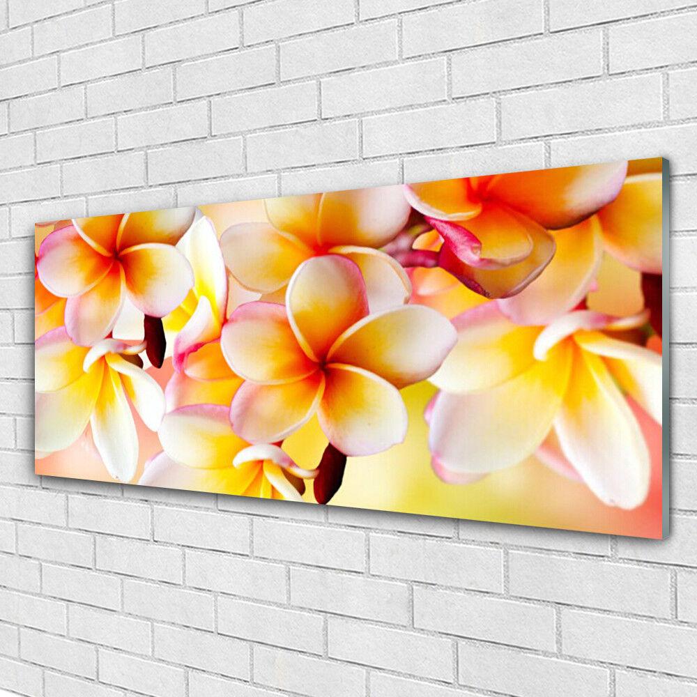 Tableau Murale Impression Verre Sous Verre Impression 125x50 Floral