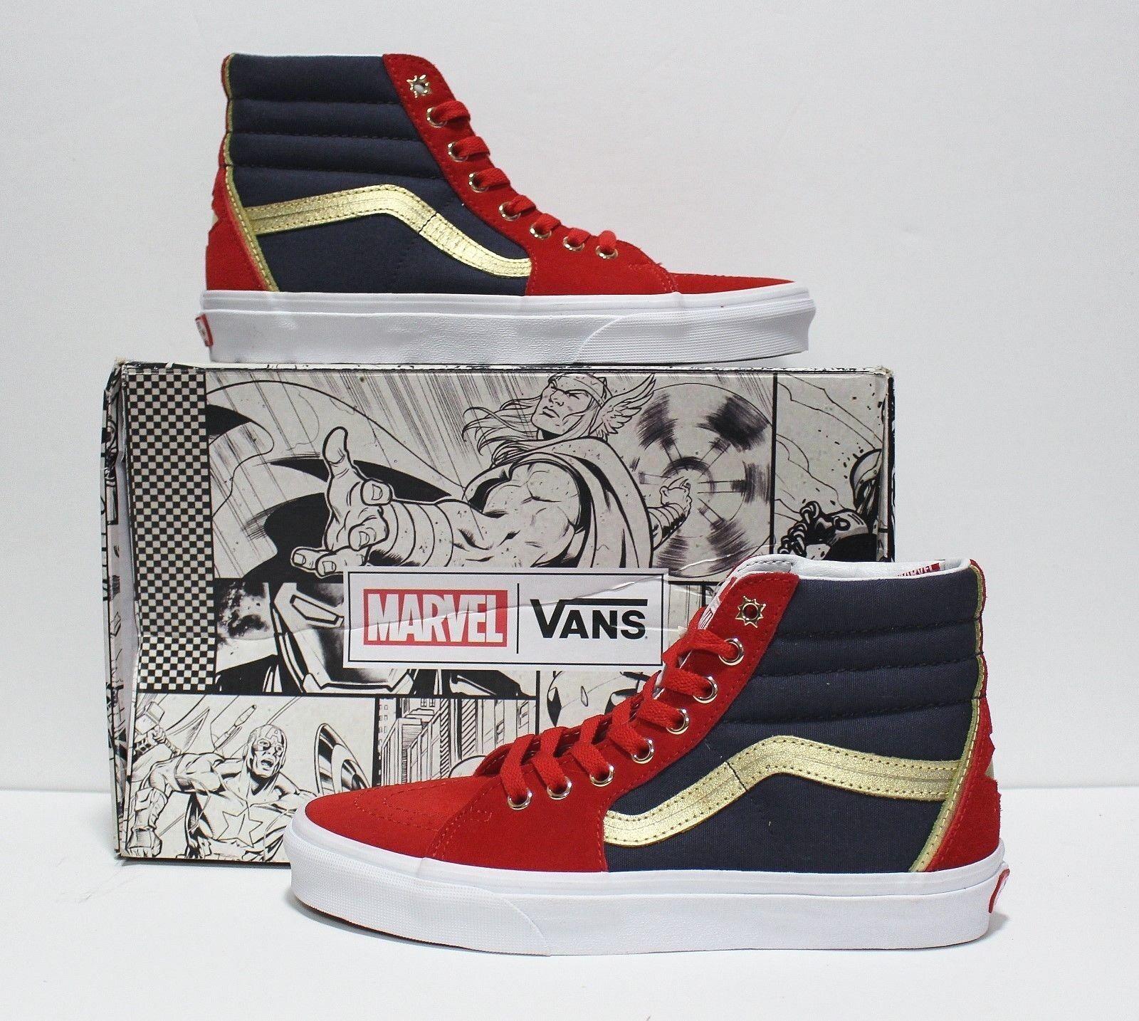 Vans X Marvel SK8 Hi Captain Marvel Women's Size 5.5