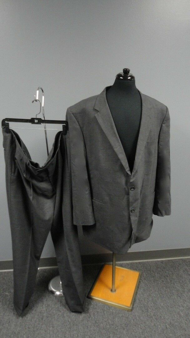 JOS. A. BANK Charcoal grau Wool Lined Two Button Pant Suit Größe 42L FF5018