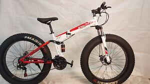 Dettagli Su Fatbike Mtb Bnq Freno A Disco 24 Marcia 26 Pollici Bici Pieghevole